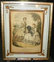 Shadow Box Frame w/ Victorian Fashion Print
