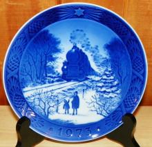 1973 Going Home for Christmas Royal Copenhagen Collector Plate