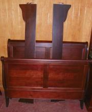 Walnut Finish Double/Full Sleigh Bed Made in USA