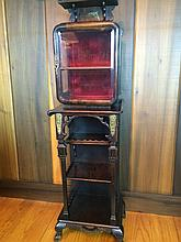 Vintage Curio Stand with Vitrine