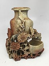 Antique Soft Stone Sculpture