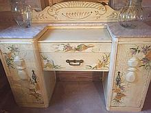 Antique Hand Painted Vanity