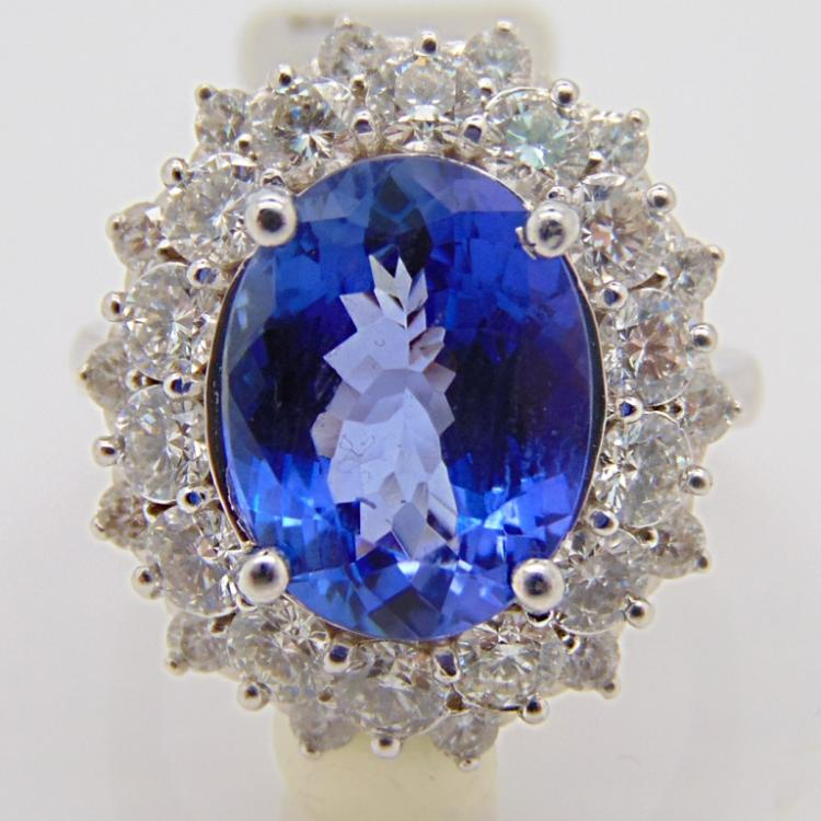 solid 14k white gold princess diana ring w 2 5ct sapphire c