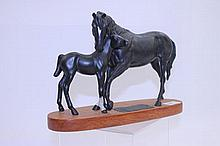 Beswick Connoisseur model - Black Beauty and Foal,