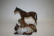 Beswick model of a horse, Midwinter model tiger