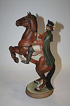 Beswick figure of a masked highwayman on rearing