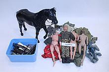 Selection of Action Man figures and accessories