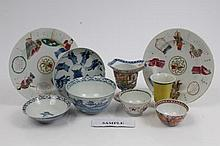 Large collection of 18th and 19th century and later Chinese export porcelain including two blanc-de-