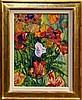 *Jacob Epstein (1880 - 1959), watercolour and gouache - Poppies, signed, in glazed gilt frame, 55cm