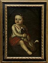 Late 17th / early 18th century Continental School oil on canvas - young child in classical costume a