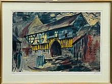 *John Piper (1903 - 1992), signed limited edition serigraph - Wigmore Abbey Gateway, Hereford 1981,