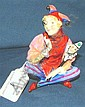 Royal Doulton figure-Lady Jester sitting HN1280 11cm