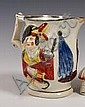 Early nineteenth century pearlware military jug,