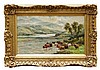William Langley (1852 - 1922), pair oils on canvas - Scottish Highland Loch, William Langley, £0
