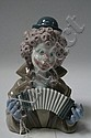 Lladro porcelain figure of a clown playing