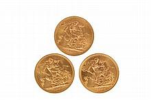 Great Britain - Elizabeth II gold Sovereigns - 1957, 1963 an