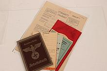 Nazi German I.D. book, Ration books and other paperwork, tog