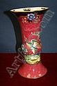 Grimwade lustre Gu shape vase with bird and floral