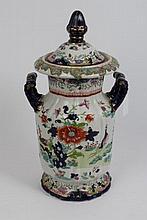 Victorian Masons Ironstone patent china vase and c