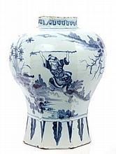 18th century Delft tin glaze blue and white potter