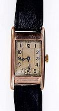 1930s gentlemen's rose gold (9ct) wristwatch with