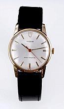 Gentlemen's Tudor gold (9ct) wristwatch with manua