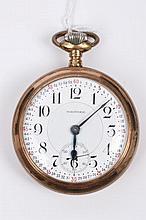 Late 19th century Waltham Railroad pocket watch wi