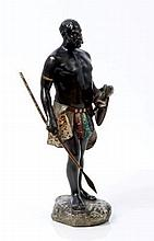 Late 19th century Austrian cold painted bronze fig