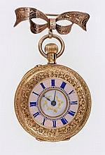 Late 19th century ladies' Swiss gold (18k) fob wat