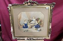 Emily Scott (act. 1826 - 1860), watercolour - thre