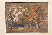 Collection of eleven Victorian watercolours includ