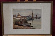 Edgar Thomas Wood (1860 - 1935), watercolour - Mal