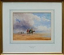 David Cox (1783 - 1859), watercolour - Crossing th