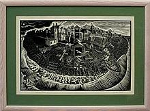 *James Dodds (b. 1957), signed artists proof linoc