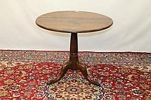 George III oak and fruitwood occasional table with