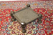 North African tribal carved hardwood footstool, th