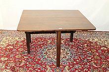 George III mahogany drop-leaf dining table the rou
