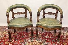 Pair of late nineteenth century French carved oak