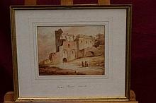 Joseph Barber (1757 - 1811), sepia watercolour - f
