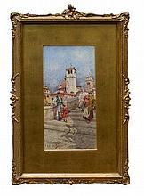 Giuseppe Vizzotto-Alberti (1862 - 1931), pair wate