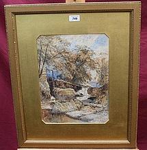 John Syer (1815 - 1885), watercolour - Rigg Mill,