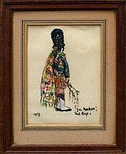 *Paul Lucien Maze (1887 - 1979), pastel portrait -
