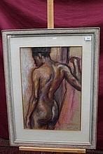 Arnold Auerbach (1898 - 1978), pastel - African Fi