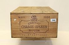 Wine - twelve bottles, Chateau Chasse-Spleen Moulis Cru Exceptionnel 1