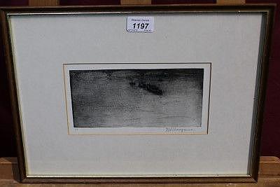 Frederick Hans Haagensen (1877 - 1943), signed etching - Battersea Bri