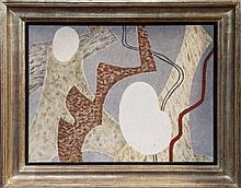 Jessica Dismorr (1885 - 1939), tempera on board - Composition signed,