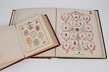 Two 19th century albums of crests and monograms, the first inscribed t