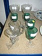 Pair good quality cut glass goblets, four Victorian Bristol green wines and two others (8)