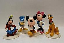 Five Royal Doulton The Mickey Mouse Collection fig