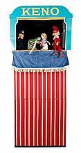 Punch & Judy Glove Puppets - wood and fabric const